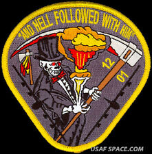USAF WEAPONS SCHOOL CLASS 2012-01 B-52  HELL FOLLOWED WITH HIM ORIGINAL PATCH