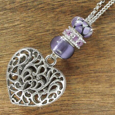 Pearl Glass Silver Plated Fashion Necklaces & Pendants