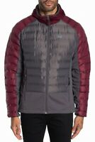 Gerry Mens Jacket Gray Size Large L Full-Zip High Point Hybrid Puffer $125 #195
