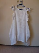 WITCHERY GIRL DRESS, LONG TOP SIZE 12 BEAUTIFUL  WHITE WITH GOLD FLECK TOP ORDER