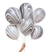 Balloons 10 pcs 12 Inch Marble  Balloons Multicolour for Wedding Party