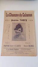 La Chanson du Cabanon - Andrée Turcy - André Cidale éditeur