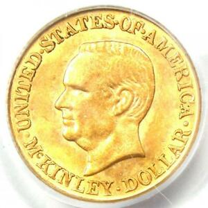 1916 McKinley Commemorative Gold Dollar Coin G$1 - Certified PCGS MS63 (UNC BU)