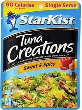 25 StarKist Tuna Creations, Sweet & Spicy, Single Serve 2.6-Ounce Pouch