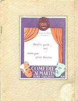 Programme Comedie Caumartin in Sa Candor Naive Marthe Regnier Paul Bernard