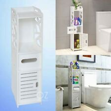 Bathroom Tallboy Side Furniture Toilet Storage Cabinet Cupboard Waterproof New