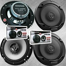 "4x Kenwood Car Audio KFC-1666S 300 Watts 6.5"" 2-Way Neodymium Coaxial Speakers"