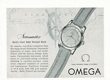 1950s Original Vintage Omega Seamaster Chronometer Watch Photo Print Ad