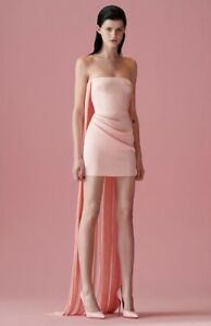 Alex Perry's Spence Ruched Fringe Overlay Mini Dress Pink - BRAND NEW WITH TAGS
