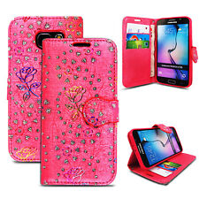 Wallet Flip Leather Case Cover For Samsung Galaxy S3 /S4/ S4 MINI/ S5 /S6