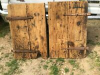 Antique Architectural Salvage Pair Farm Barn Stable Doors 23.5in x 37in x 1in