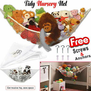 Large Toy Hammock Storage Soft Cuddly Mesh Net Nursery Teddy Bear Baby Bedroom