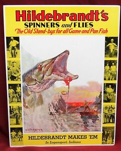 Hildebrandt's Spinners and Flies Store Stand-Up Sign, NOS
