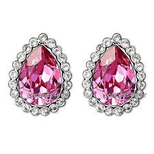 Swarovski Rhodium Plated Crystal Stud Fashion Earrings