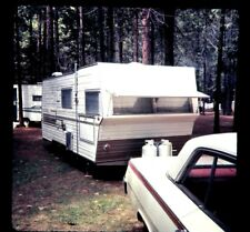 RV Camping in Yosemite 1967 with Camper and 1962 Chevy Impala ORIGINAL SLIDE