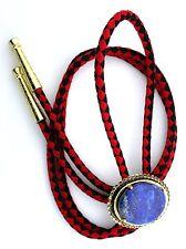 Natural Oval 30x22 Lapis Lazuli Cab Cabochon Gemstone Bolo Tie Cord Tips EPBT75N