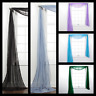 "1PC ELEGANCE SHEER WINDOW SCARF VALANCE CURTAIN TOPPER SOLID COLORS 37"" X 216"""