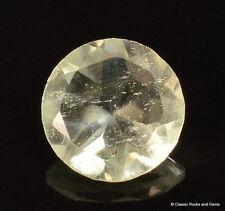 Libyan Desert Glass AAA Faceted Gem Cut Meteorite Impactite 1.35 ct 8.1 mm