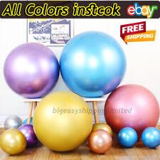 18'' METALLIC LATEX PEARL CHROME BALLOONS Helium Baloon Happy Birthday Party