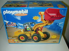 NEW Playmobil Construction Front End Loader 3374 Rotating Cab Geobra 2002 Sealed