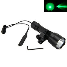 5000LM CREE Q5 VERDE LED Táctico Flashlight Antorcha Rifle 25mm Mount 18650 Lamp