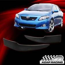 2009 10 PP OE Style Front Bumper Lip Splitter 2Pcs Fits Toyota Corolla Sedan 4Dr