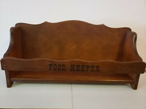 Vintage Food Keeper Wood Kitchen Storage Shelf 18""