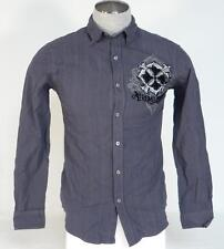 Xtreme Couture Signature Gray Button Front Long Sleeve Shirt Mens Small S NWT