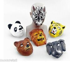 6x PLASTIC WILDLIFE ANIMAL MASK Barn Children Party Fancy Dress Up Cosplay Masks