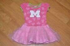 Michigan Wolverines Girls Youth 4T Ballerina Dress T Shirt Outfit Pink Cute Nice