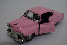 PINK CADILLAC CONVERTIBLE 50'S 1/32 DIECAST CAR MUSIC & LIGHTS OPENING DOOR