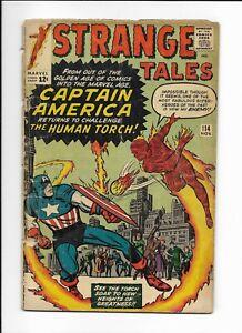 STARANGE TALES #114 ==> FA SILVER AGE CAPTAIN AMERICA X-OVER 1963