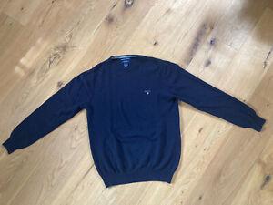 Gant wolle-Caschmir Pullover Blau Gr. XL