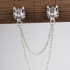 Men's Double Toe Dragon Head Lapel Pin Badge Brooch Men Trinket Decor C