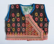 Vintage Miao HMONG culture tribal Embroidered Childs VEST Jacket Chinese Thai