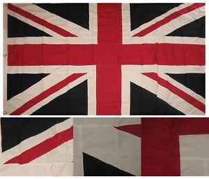 5x8 Embroidered Sewn UK United Kingdom Cotton Flag 5'x8' Grommets