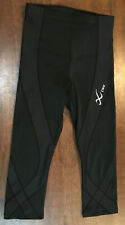 Women S CW-X Compression Tight Leggings Pants Black Stretch Running Athletic Sma