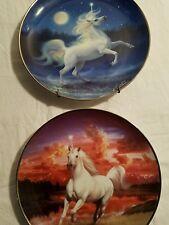 franklin mint diamond unicorn plate mystical collectable decor