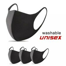 Mouth Face Cover | Reusable | Washable | Breathable Black Protection Face Cover
