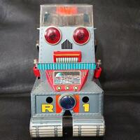 "Tin Tinplate Robot R1 Nomura Toy Vintage Retro Old Japan ""some parts are broken"""