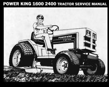Power King 1600 2400 Tractor Service Manual 135pg w Hydrostatic Transaxle Repair