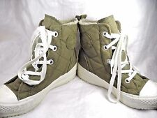 """Converse All Star High Top Textile Green Womens U.S. Size 8 Tall 7"""" Height"""