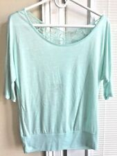 NWT Wet Seal Women's Lace Back Banded Dolman Top Size Small