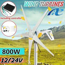 5 Blades 800W 12V/24V Wind Turbine Generator W/ Controller Regulator High Power