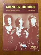 Shame on the Moon Recorded by Bob Seger Silver Bullet band music song sheet 1981