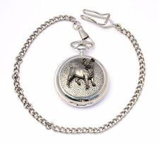 Jack Russell Design Pocket Watch Gift Boxed FREE ENGRAVING Dog Lover Present