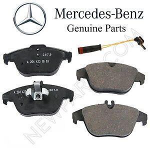 For Mercedes X204 GLK250 GLK350 Rear Brake Pad Set w/ Shims & Sensor Kit Genuine