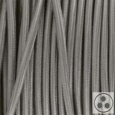 Textilkabel Stoffkabel Lampen-Kabel Stromkabel Elektrokabel Silber 3 adrig