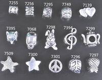 20 Pieces Big Hole Bead Tibetan Silver Spacer For DIY Jewelry European Bracelet