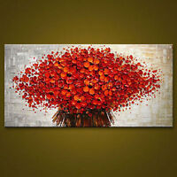 CHOP115 fine flower abstract 100% hand-painted oil painting wall art on canvas